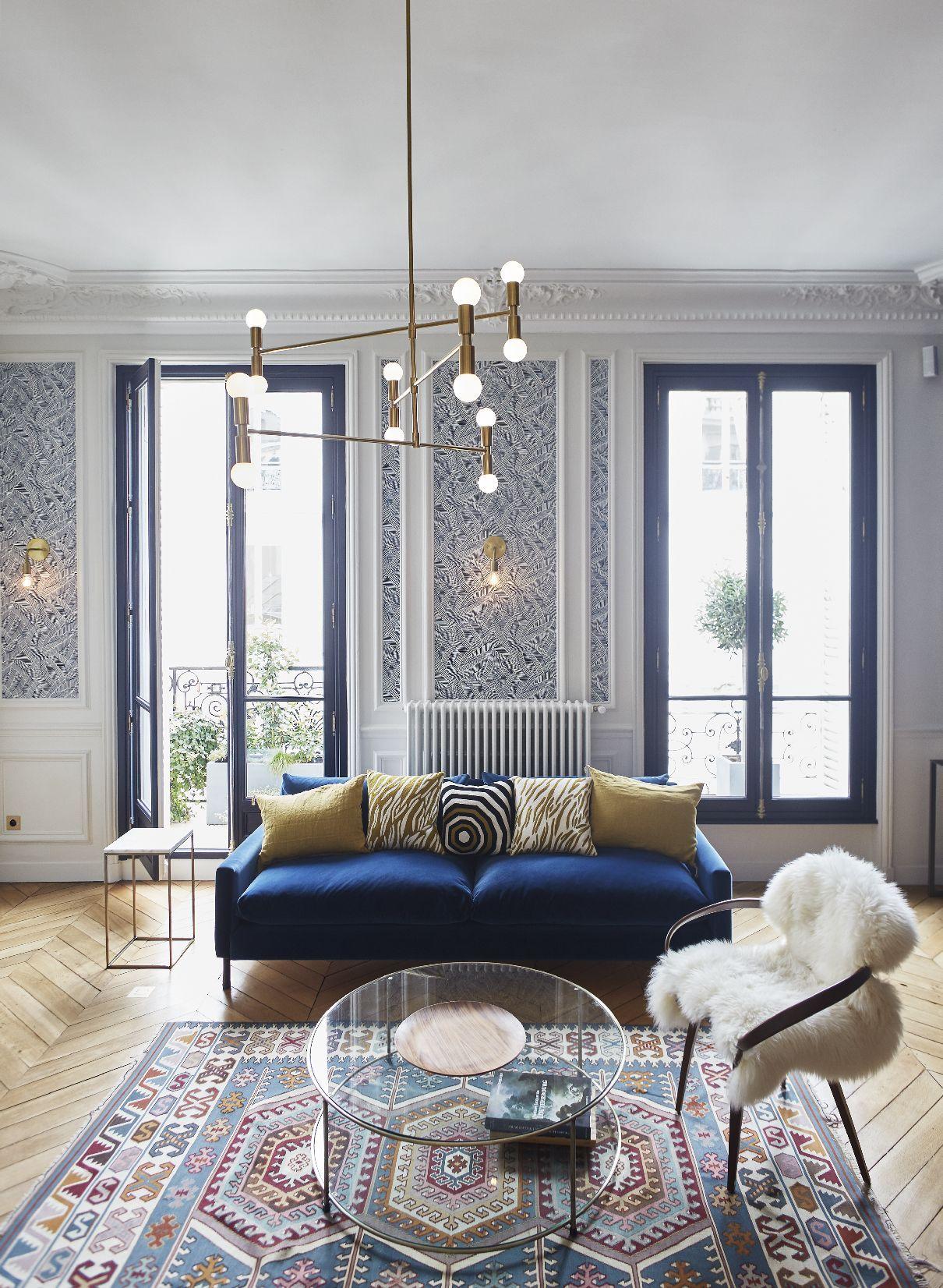 Séjour appartement parisien de 150m2 gcg architectes living space