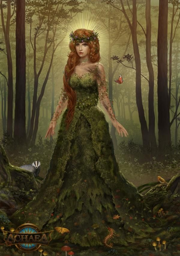 Gaia Greek Mythology °Gaia, the Wildwo...