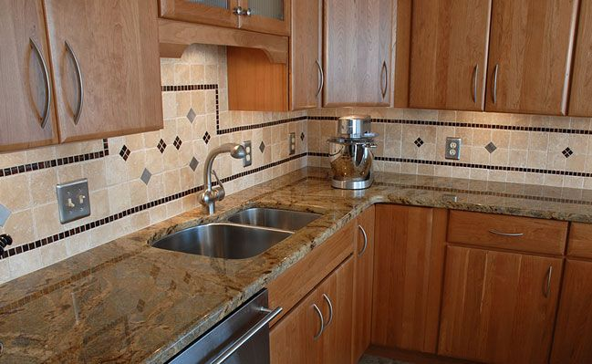 Travertine tile backsplash travertine backsplash for quality kitchen designs kitchen for Travertine bathroom countertops