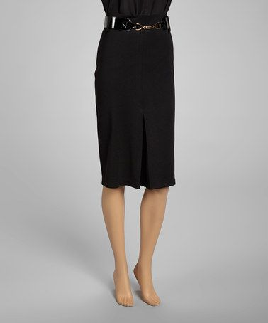 Take A Look At This Black Belted Pencil Skirt By Nancy Yang On
