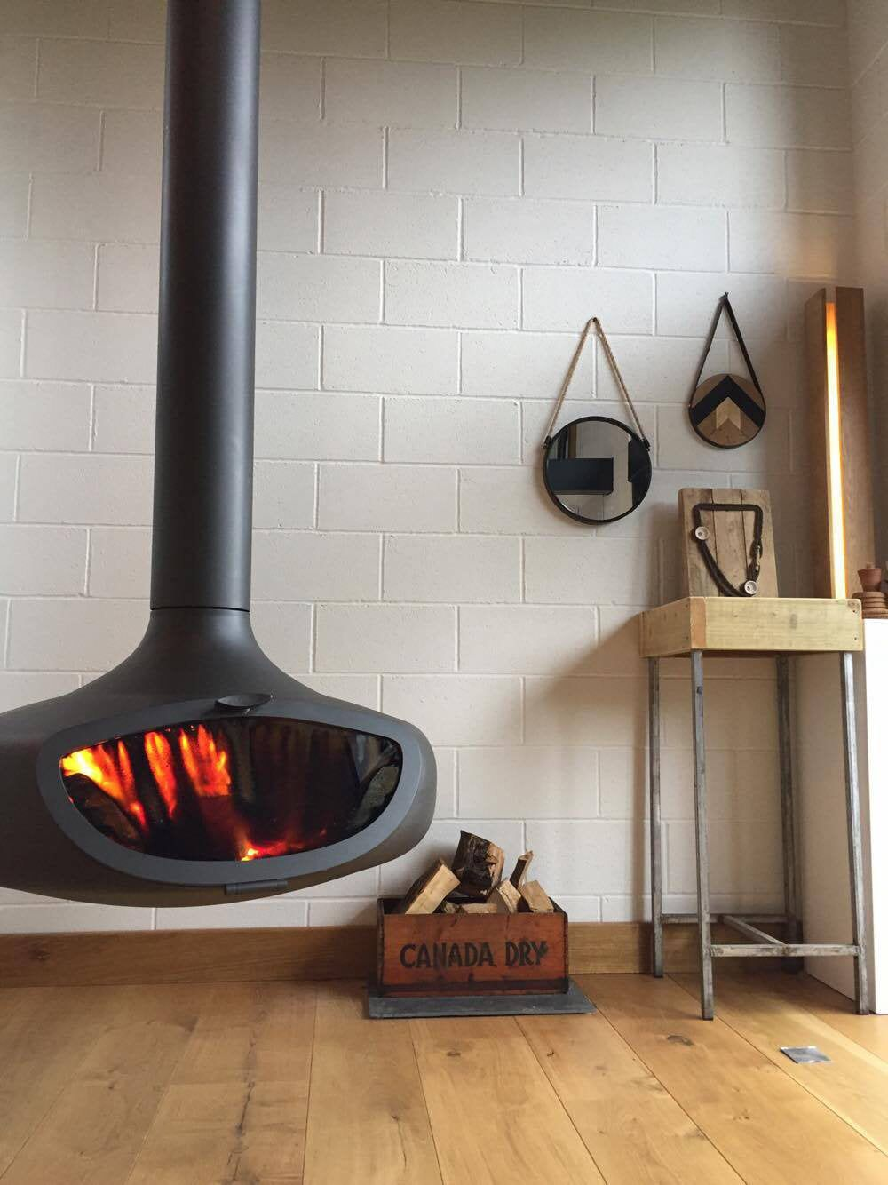Firebob Suspended Stove In 2020 Wood Burner Hanging Fireplace