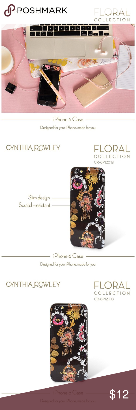 Cynthia Rowley IPhone 6/6S Case This is a two part case that snaps on easily. Has a front and back. Barely used and shows no signs of wear Cynthia Rowley Accessories Phone Cases