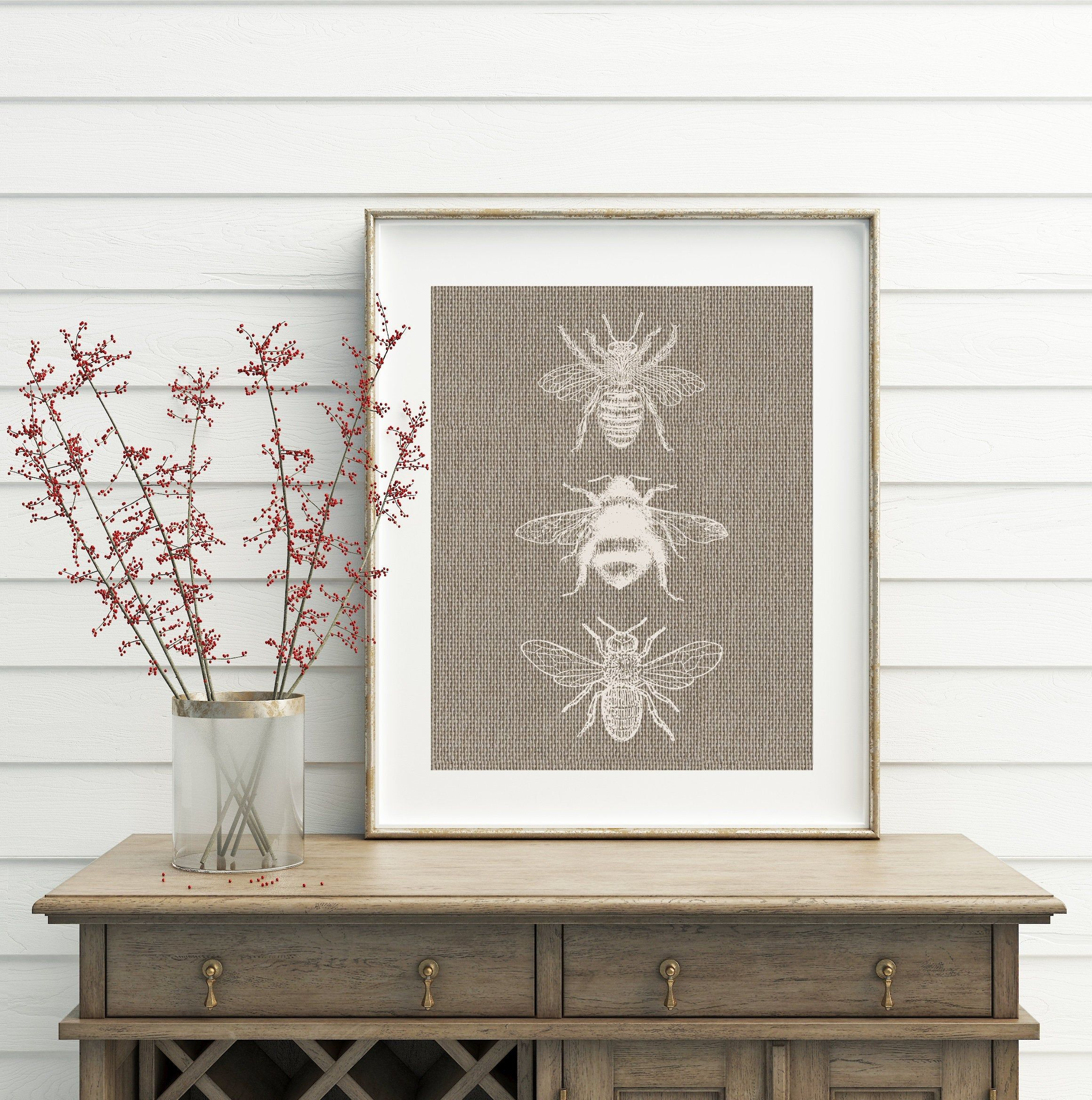Taupe Wall Art Taupe And Cream Taupe Art Bee Decor Home Etsy In 2020 Wall Decor Printables Bee Decor Taupe Walls