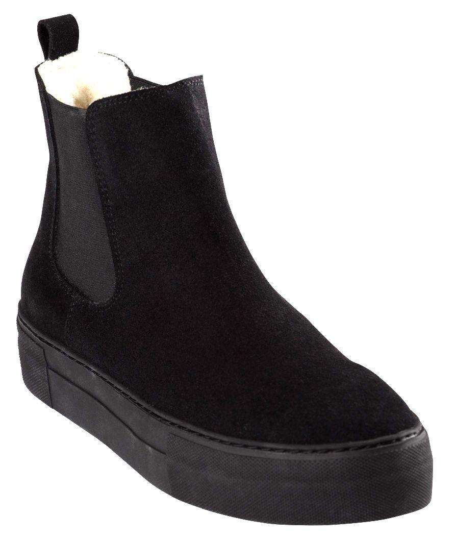 Amber boots i mocka Svart   Boots, Skor, Läder