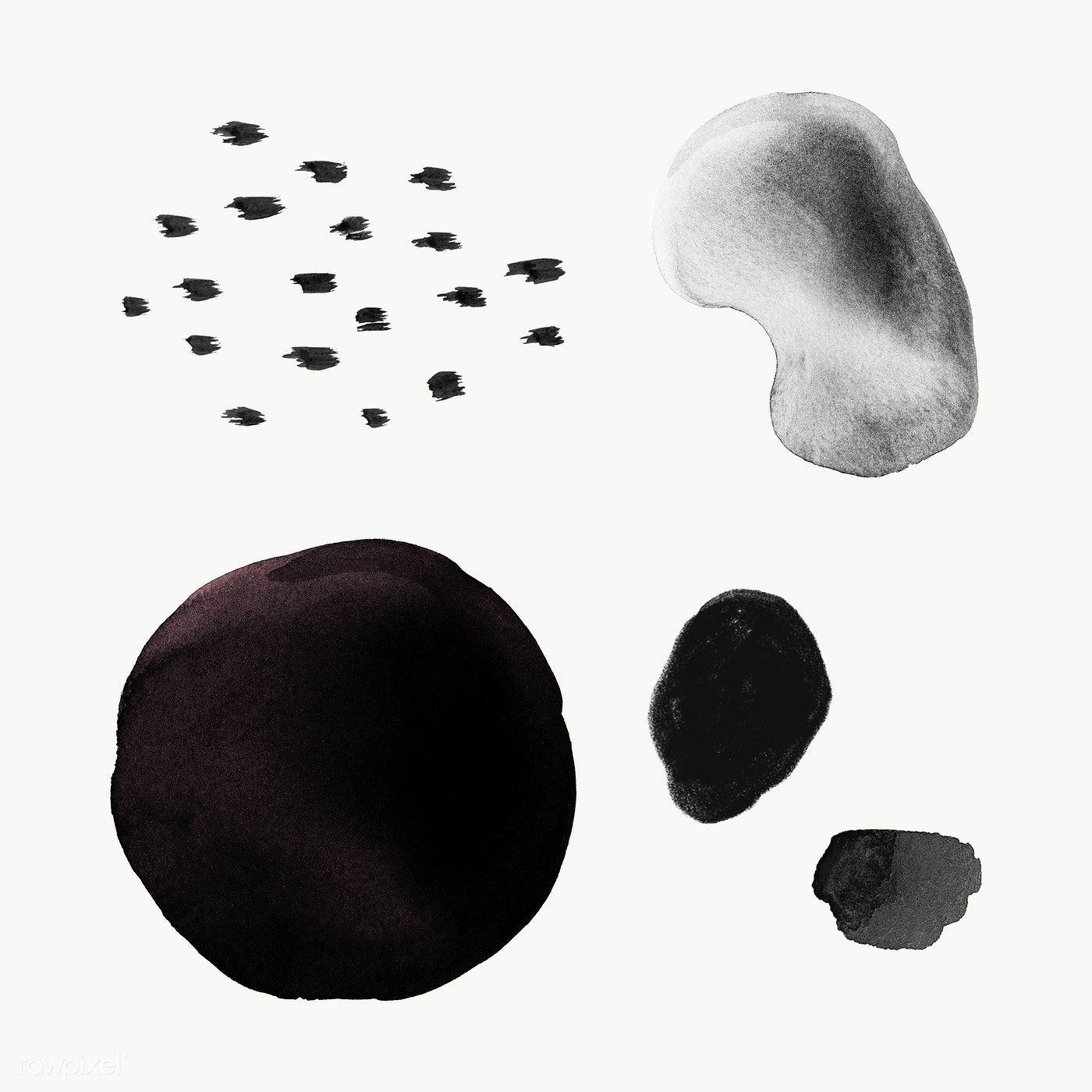 Black Abstract Watercolor Circles Transparent Png Premium Image By Rawpixel Com Sasi Watercolor Circles Abstract Watercolor Abstract Canvas Painting