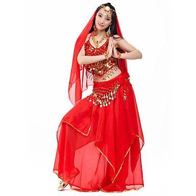 88d294a2b412 Hermosa Rendimiento gasa de danza del vientre trajes para damas (más ...