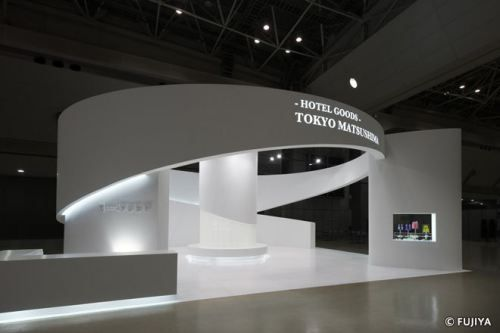 Exhibition Stand Minimalist : Minimalist clean lines good use of lighting