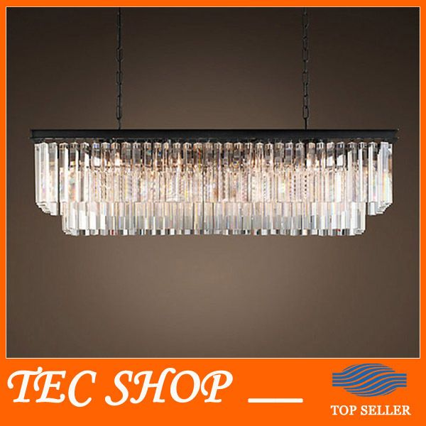 795 US 150 Cm Best Price JH American Country Crystal Chandelier Dining Room Creative Rectangular