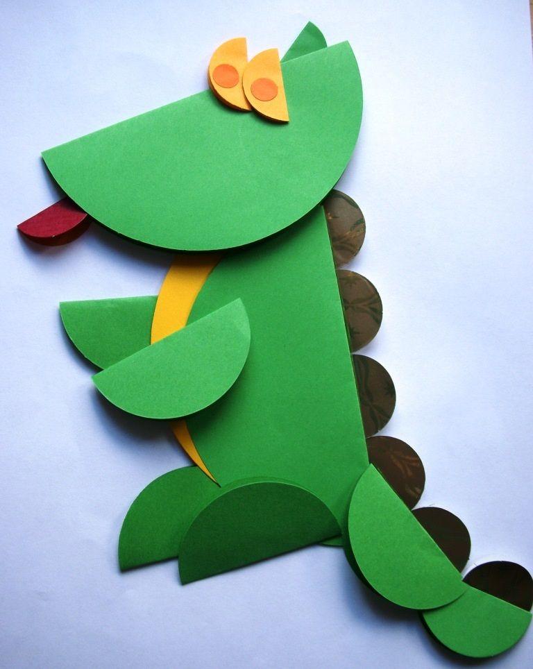 Znalezione obrazy dla zapytania praca plastyczna smok | Alligator crafts,  Preschool crafts, Crocodile craft