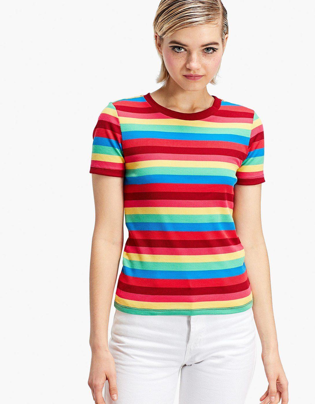 Camiseta rayas multicolor - Camisetas  dedec23556a