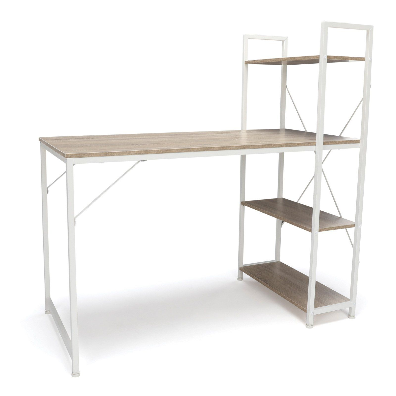 OFM Essentials Combination Desk 4 Shelf Unit White