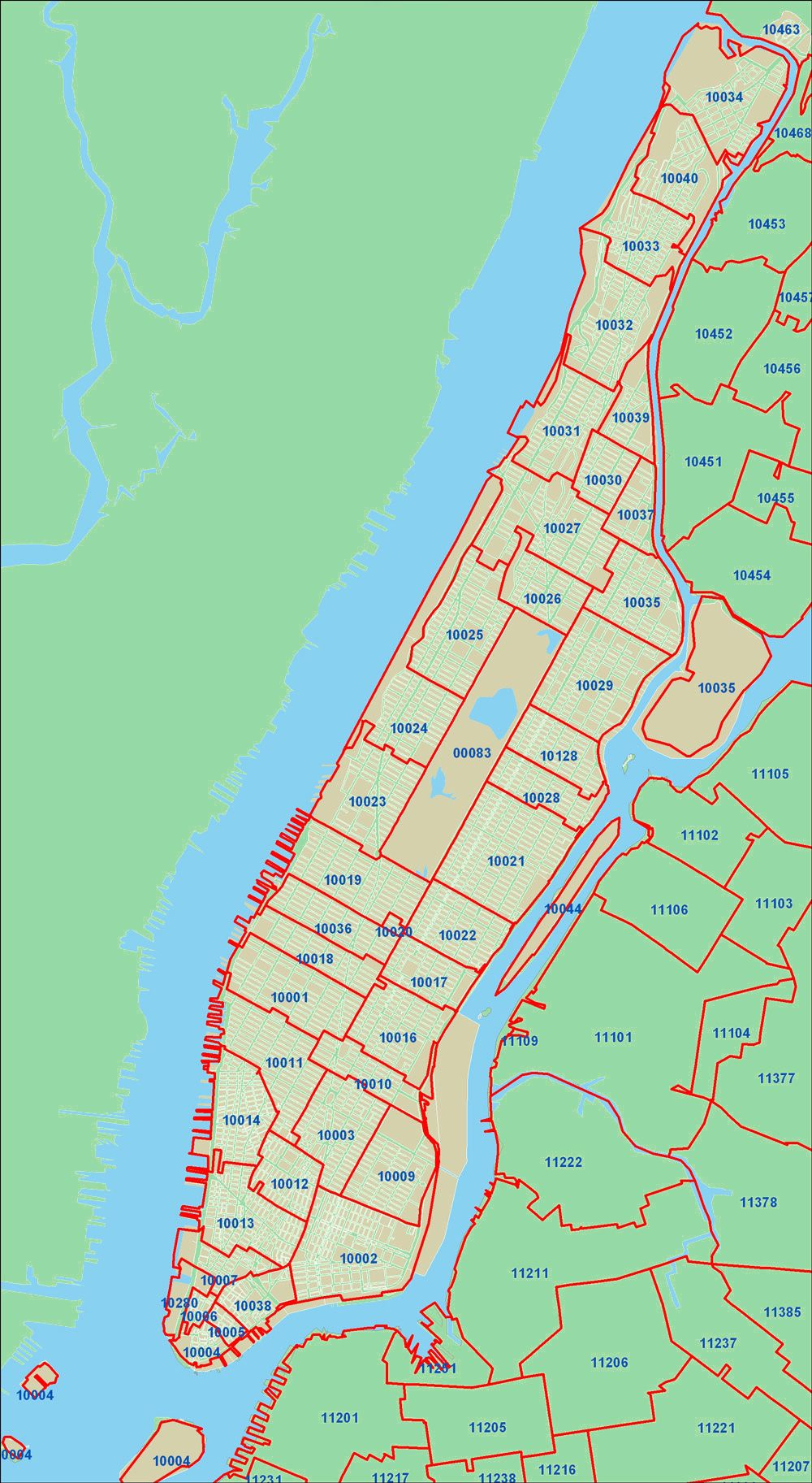 NYC zip codes   (1000×1825) | Maps | Zip code map, Map, New york