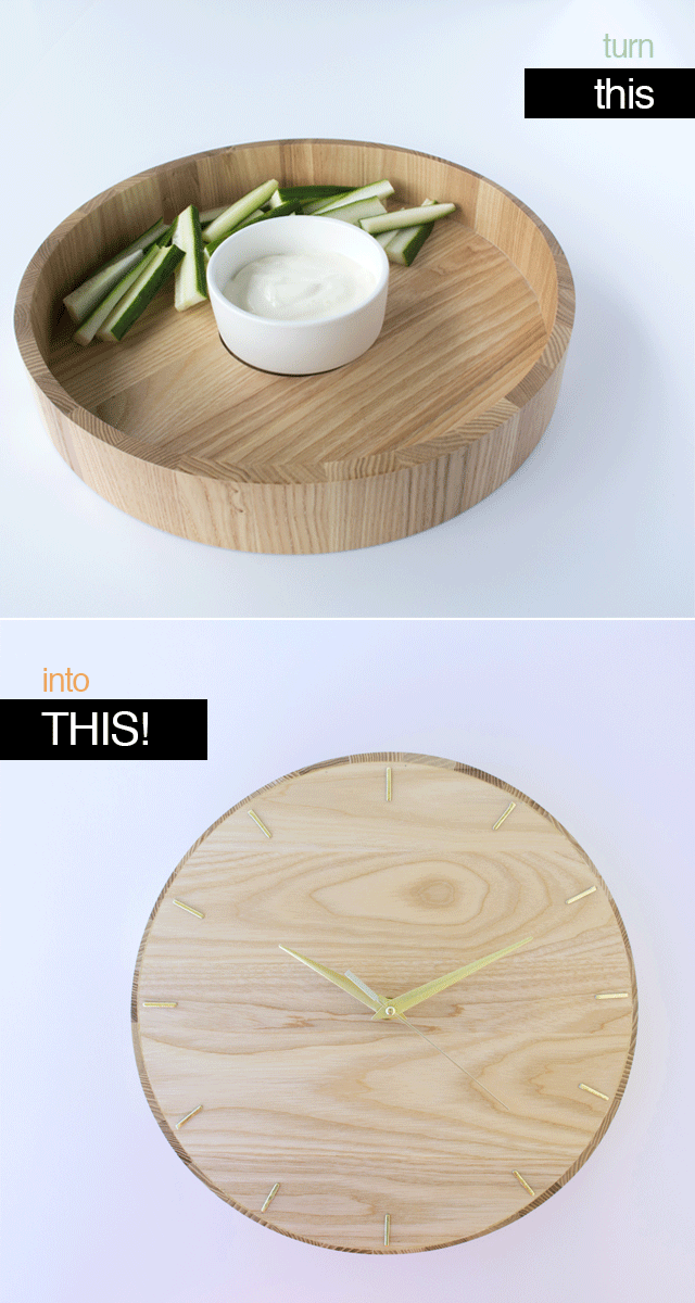 Make A Clock From A Wooden Platter With Craft Hunter Blog Extra