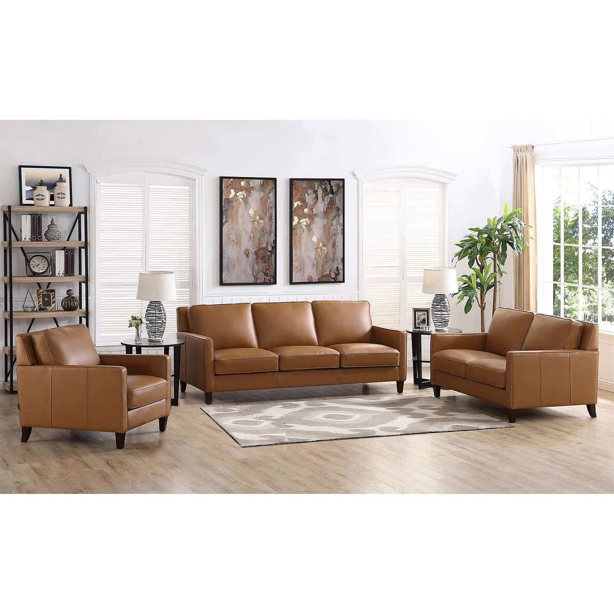 Best Brown 1 Living Room Sets Living Room Leather 3 Piece 400 x 300