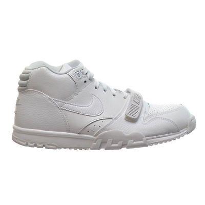 factory authentic eb053 bbc02 NEW Nike Air trainer 1 Mid Premium Men Shoes WhitePure Platinum 317554-102  SZ 8 Clothing, Shoes  AccessoriesMens ShoesAthletic nike jordan shoes  ...