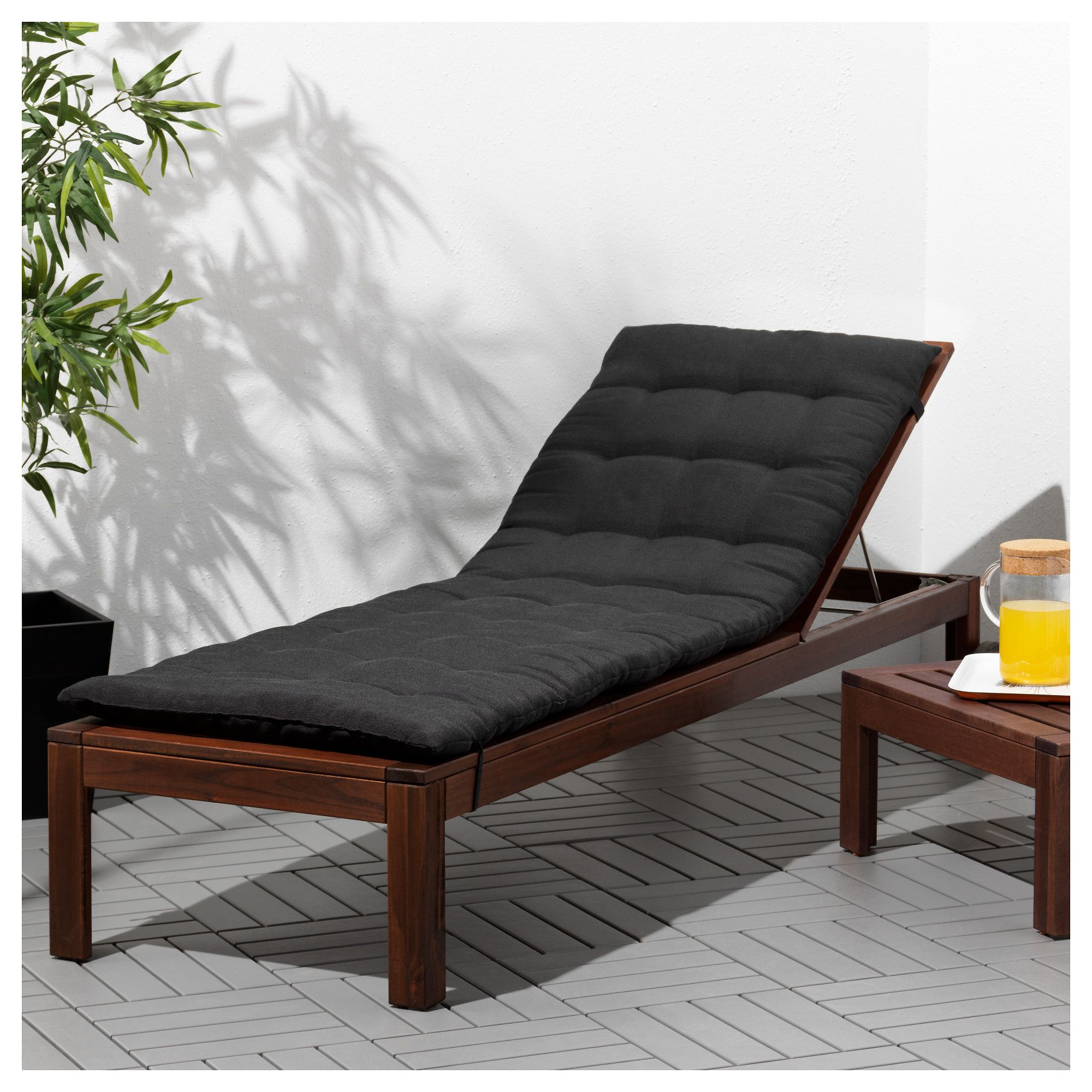 ÄPPLARÖ Chaise lounger - brown stained - IKEA  Sun lounger