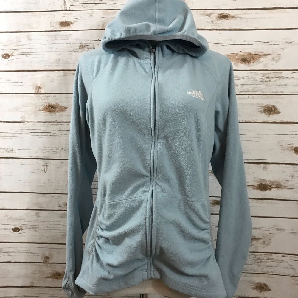 Details about womens north face jacket fleece zip up hoodie front