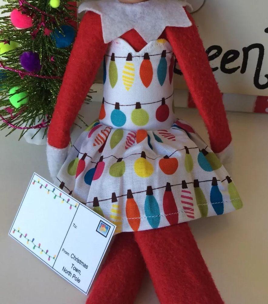 Sale Elf Girl Handmade Jolly Lights B Dress Fits on The Shelf Elf ...