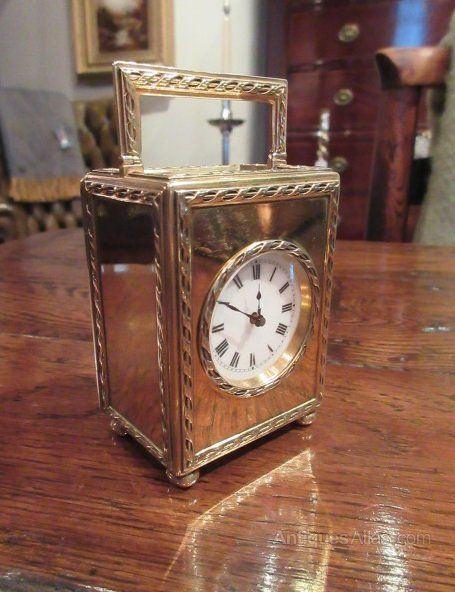 Edwardian Period Solid Silver Carriage Clock #edwardianperiod