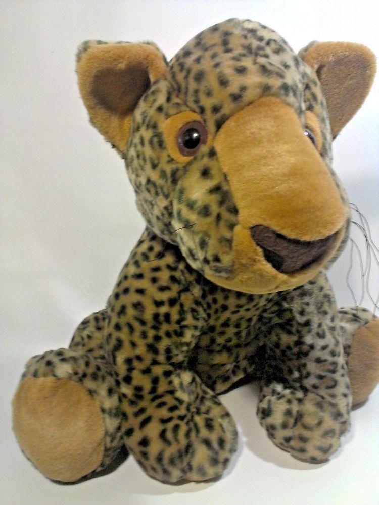 Leopard Jungle Cat Plush Safari Stuffed Animal Kelly Toy Big 20 ...
