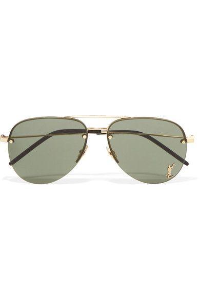 Saint Laurent Stylish Classic Aviator Tone Style Sunglasses 11 Gold P8n0XONwk