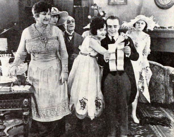 Still From The American Comedy Short Film Seven Bald Pates 1920