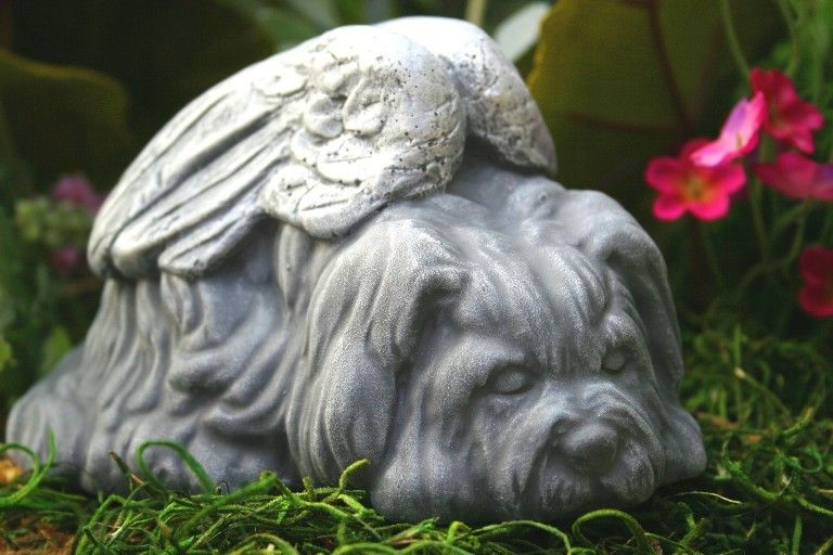 Great Dog Angel Statues   Dog Memorials   Shih Tsu, Lhasa Apso, Maltese, Terrier