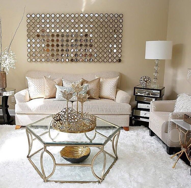 Get The Best Home Decor Inspirations For Your Luxury Space Check More At Luxxu Net Gold Living Room Glam Living Room Modern Glam Living Room #rose #gold #living #room #ideas