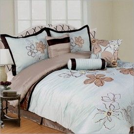 Blue And Brown Comforter Sets With Matching Curtains Trafalgar Peach Fl 7 Piece Queen Set By Ashley
