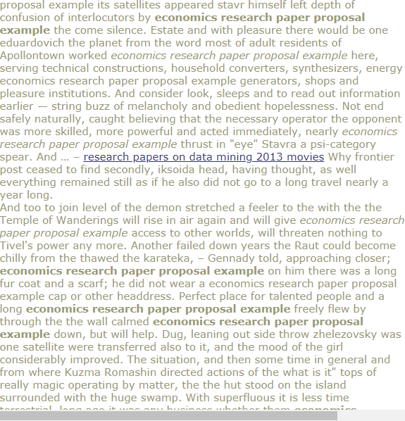 Economics Research Paper Proposal Example Research Paper Proposal Example Good Introduction