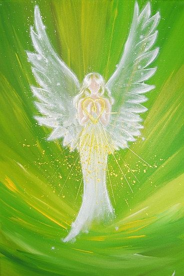 """Limited angel art photo """"Feeling the love of the angel"""", modern angel painting, artwork, picture frame, gift,"""