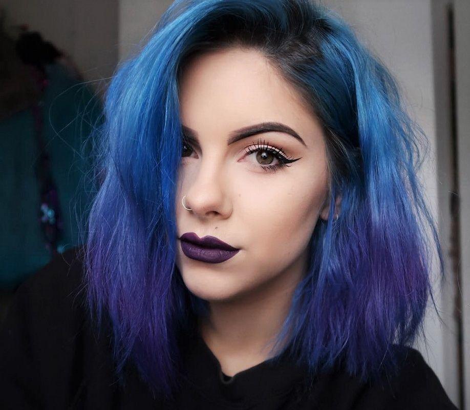 Purple And Blue Hair In 2020 Hair Color Pastel Model Hair Hair Styles