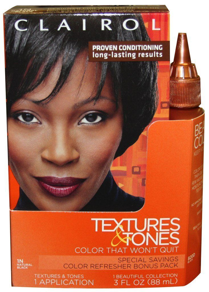 Clairol Textures And Tones Hair Color 1n Natural Black 20d