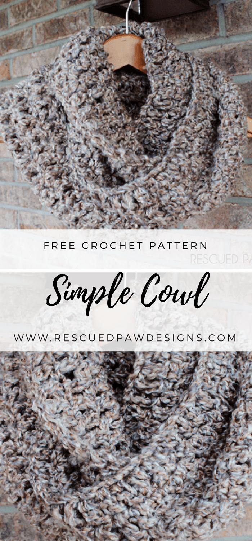 Simple Crochet Cowl | Chal
