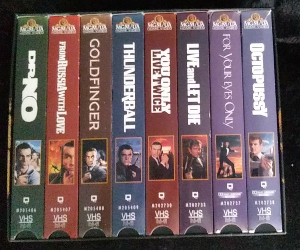 The James Bond 007 Collector S Set Volume 1 To 8 1996 Vhs Tapes