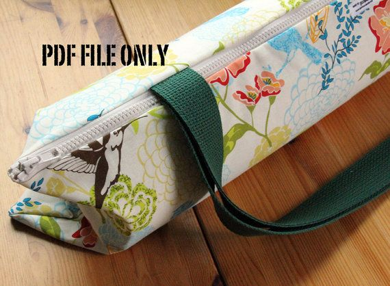 Yoga Bag Sewing Pattern Yoga Mat Bag Pattern Pdf Instructions On