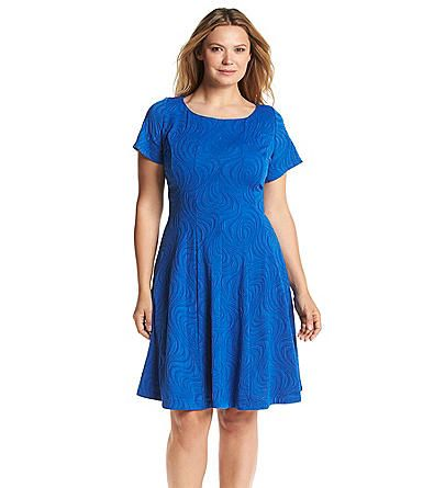Julian Taylor Plus Size Wavy Knit Dress | Herberger\'s | Dresses ...