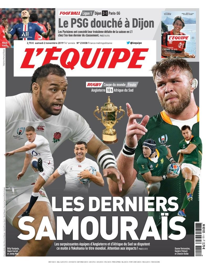 rugby rwc2019 england southafrica final France