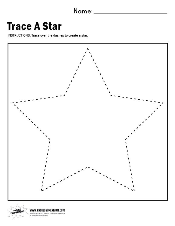 TraceAStar Worksheet Paging Supermom – Name Tracer Worksheets