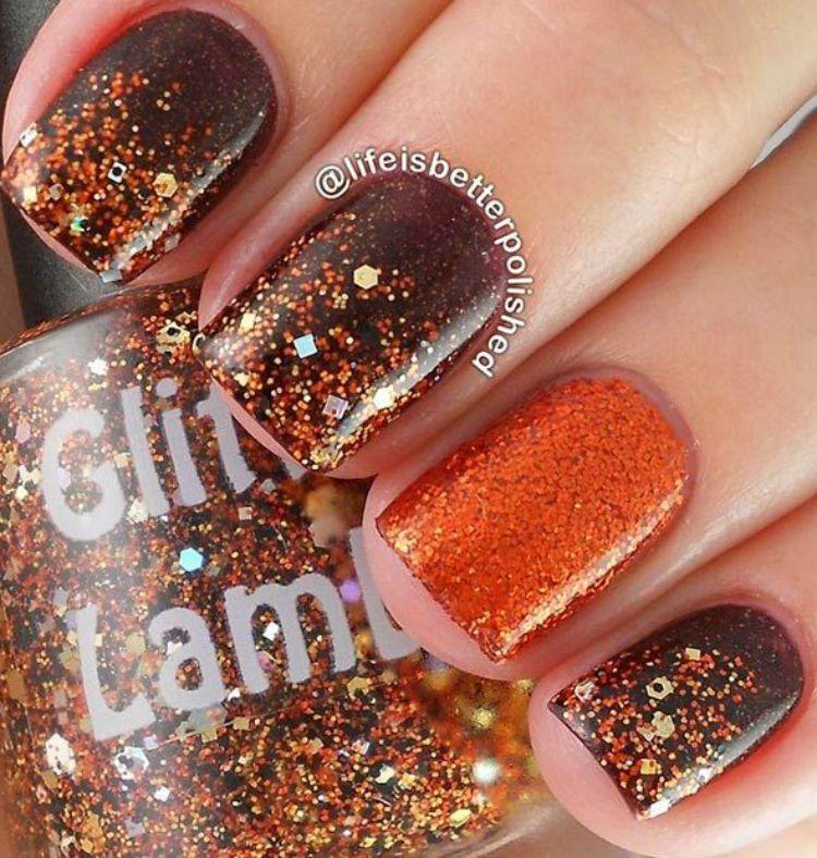 Fall Inspired Nail Art   Inspiration, Makeup and Nail nail