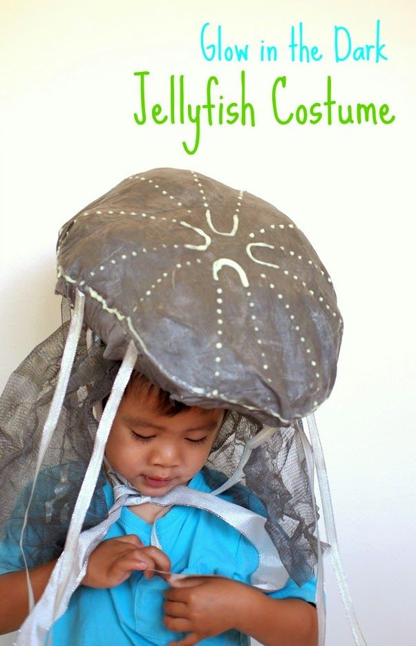 Glow in the dark Kids Jellyfish Costume  sc 1 st  Pinterest : easy fish costume  - Germanpascual.Com