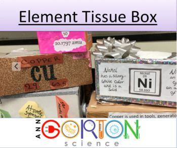 periodic table element tissue project science ideasscience resourcesteaching - Periodic Table Teacher Resources