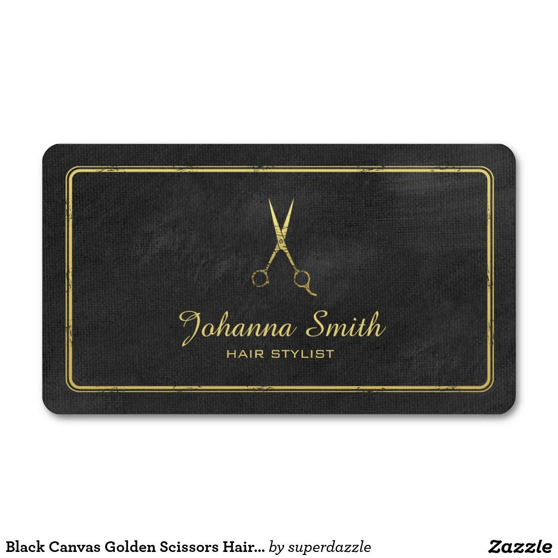 Black canvas golden scissors hairstylist appointment business card black canvas golden scissors hairstylist appointment business card template with an image of a grunge golden flashek Choice Image