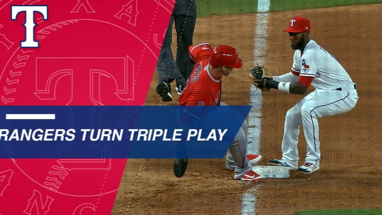 Profar And Odor Combine For Bases Loaded Triple Play Mlb Tickets Rougned Odor Minnesota Twins