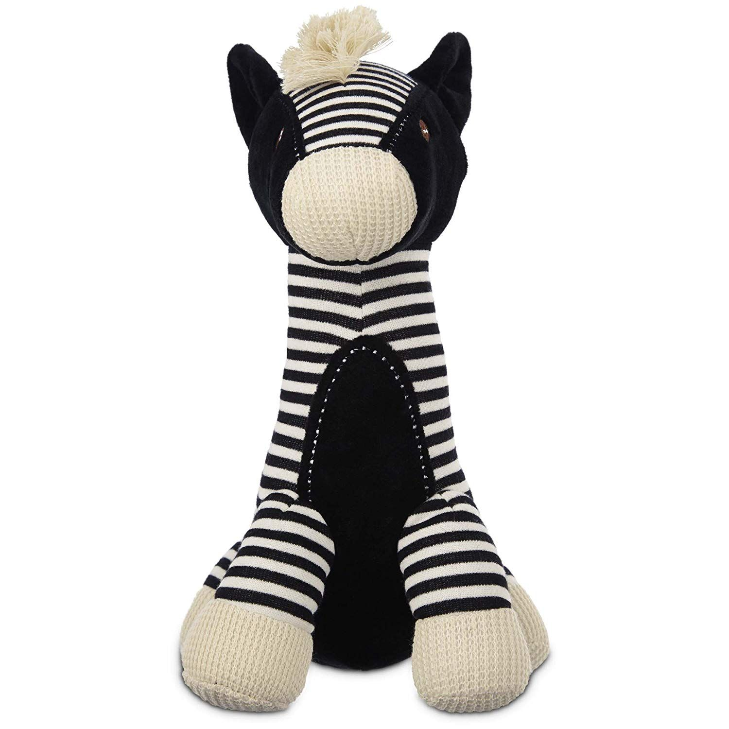 Leaps And Bounds Wildlife Plush Long Neck Zebra Dog Toy We