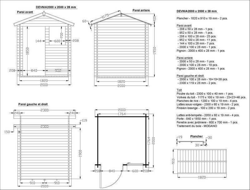 plan de montage cabane en bois - Recherche Google jardin Pinterest - construire une cabane de jardin en bois