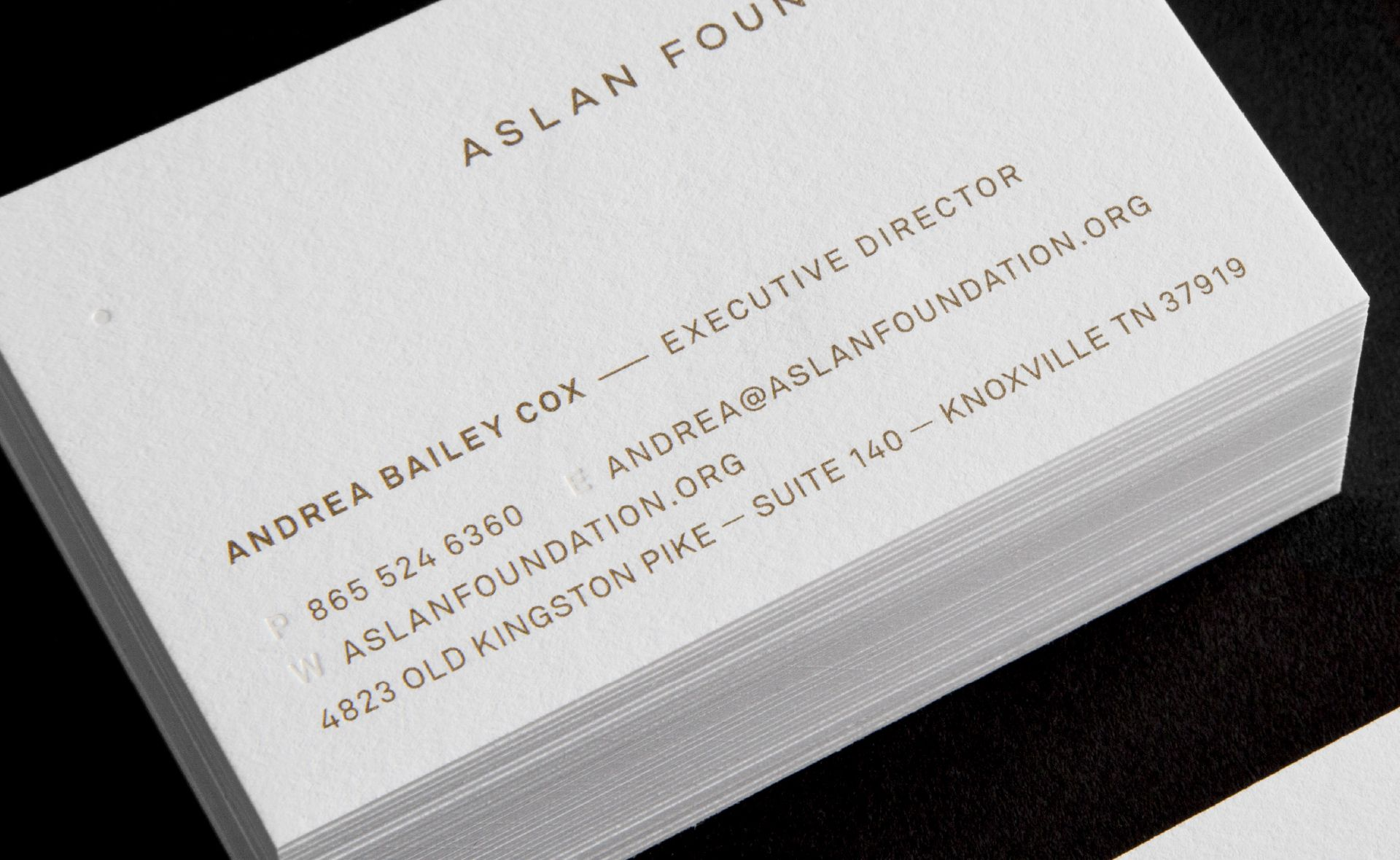 Aslan Foundation Business Cards Design Ranch Branding