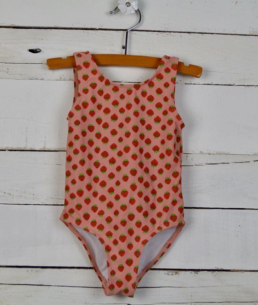 9e9158bf3 Little Girls TUCKER & TATE Sz 3 Pink One Piece Strawberry Swim Bathing Suit  #TuckerTate #OnePiece
