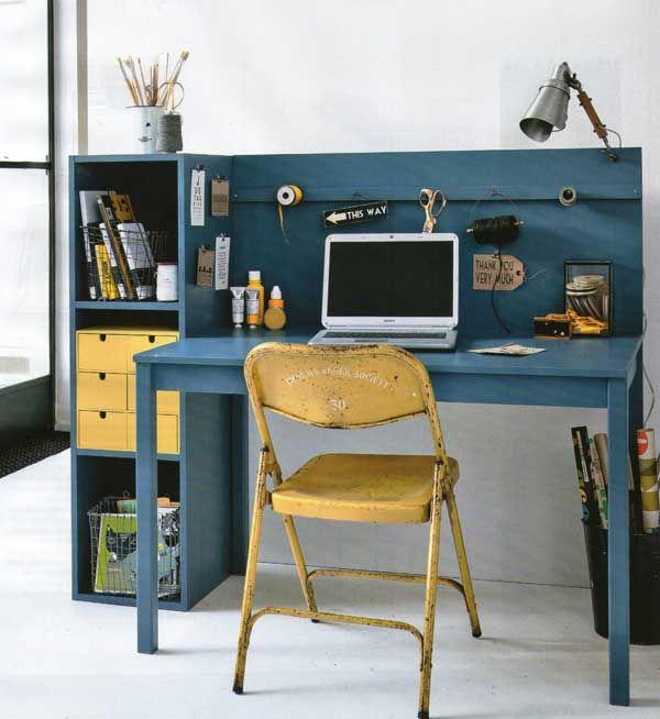 Schreibtisch selbst gebaut Einrichten Pinterest Schreibtisch - der arbeitsplatz zu hause