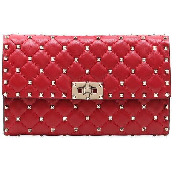 f587ce2c4e9 Valentino Women Spike Quilted Studded Leather Clutch ($1,565 ...
